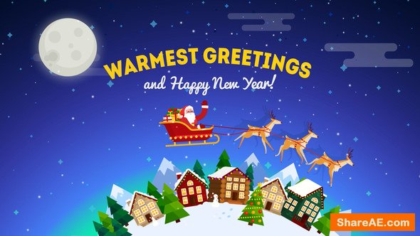 Videohive Christmas Greeting Card Opener