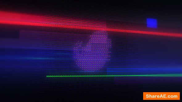 Videohive Glitch LED Logo