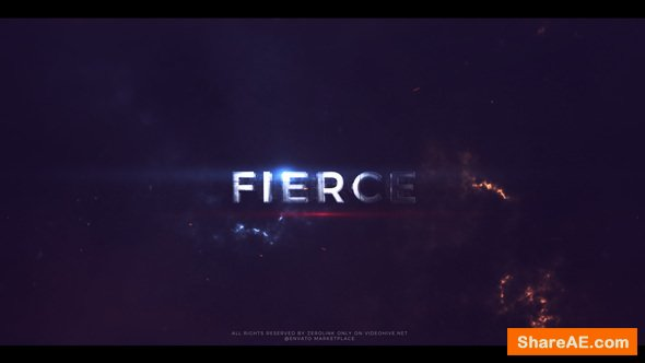 Videohive Fierce - Action Trailer Titles