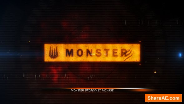 Videohive Monster Broadcast Package