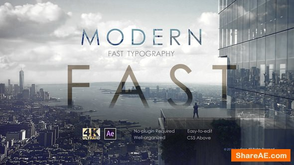 Videohive Modern Fast Typography