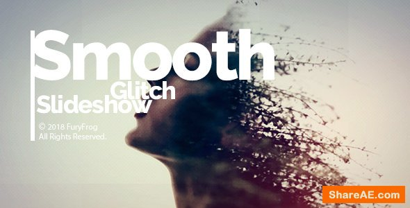 Videohive Smooth Glitch Slideshow