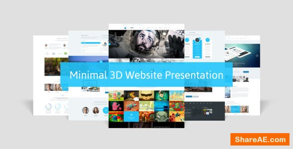 Videohive Minimal 3D Website Presentation
