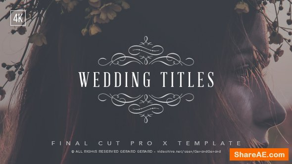 Videohive Wedding Titles - FCPX