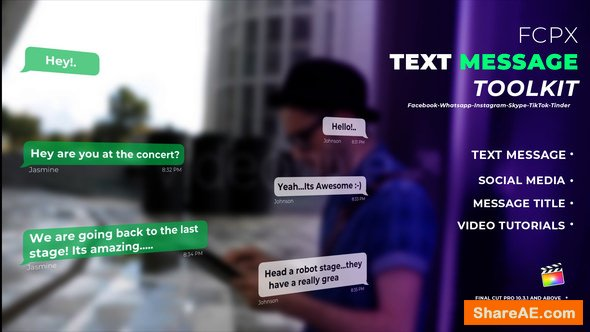 Videohive Text Messages - Apple Motion