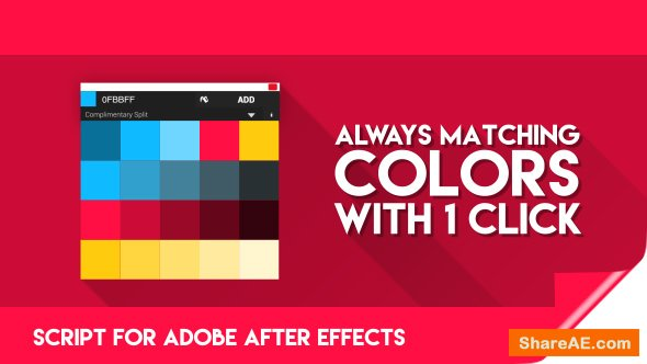 Videohive Color Theory for After Effects | Premium Script for finding matching Colors!