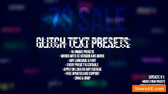 Videohive Glitch Text Presets Pack
