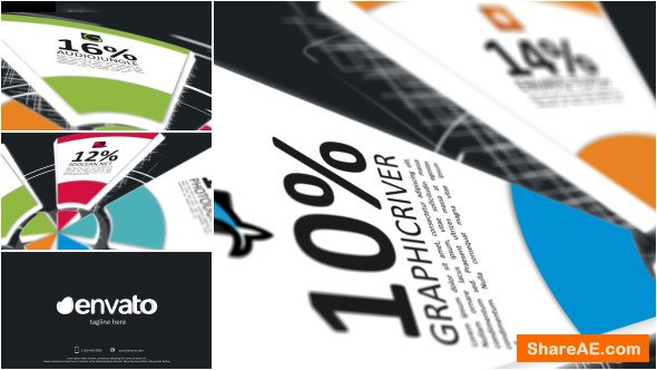 Videohive Pie Charts Infographic Opener