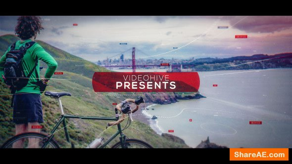 Videohive Sport Glitch Slideshow