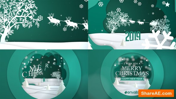 Videohive Merry Christmas Greeting Card