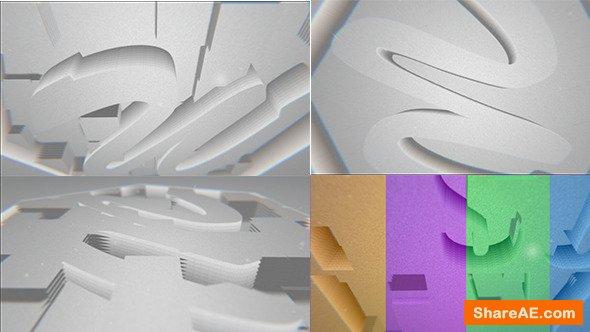 Videohive Paper Falling Down Logo Reveal
