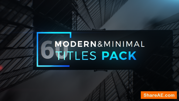 Videohive Modern Minimal Titles Pack