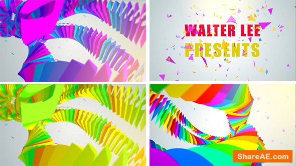Videohive Colorful Tentacle Logo Reveal