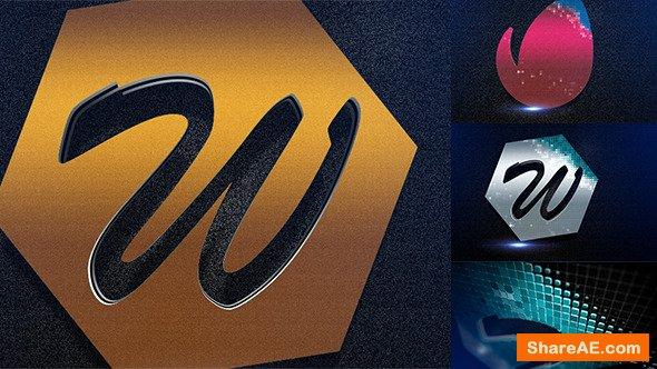 Videohive Mosaic Metal Logo