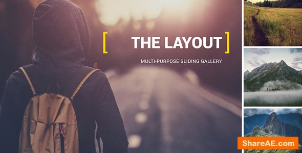 Videohive The Layout - Multi-Purpose Sliding Gallery | 2.5k