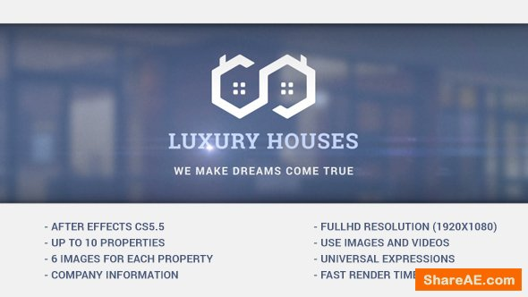 Videohive Luxury Houses - Real Estate Presentation