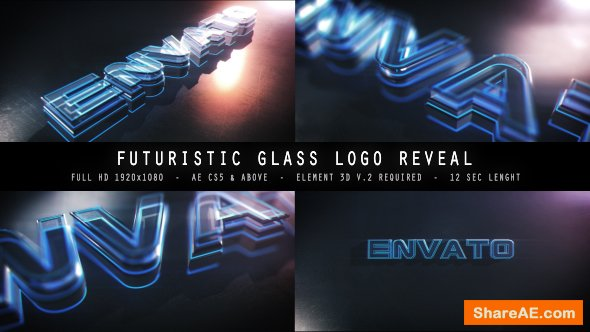 Videohive Futuristic Glass Logo Reveal