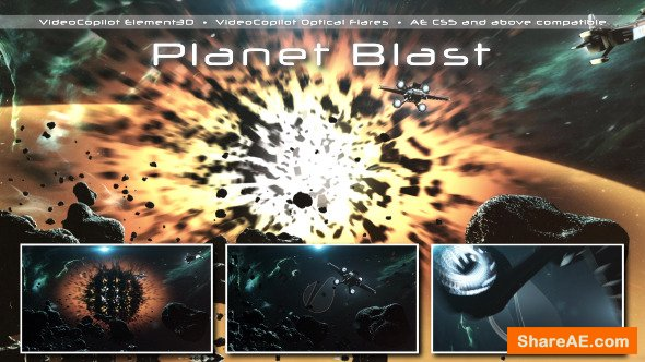 Videohive Planet Blast
