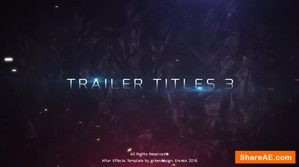 Videohive Trailer Titles 3