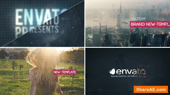 Videohive Glitch Slideshow 4
