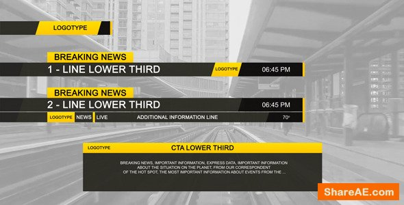Videohive Lower Third Black