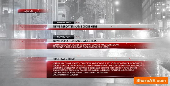Videohive Lower Third News 5
