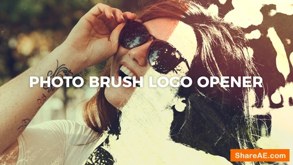 Videohive Photo Brush Logo Opener