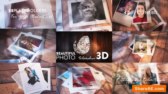 Videohive Beautiful Photo Slideshow I 3D