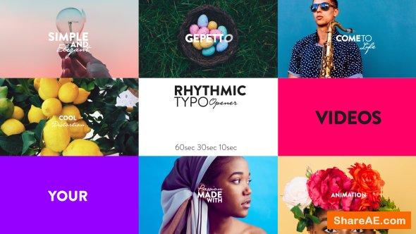 Videohive Rhythmic Typo Opener