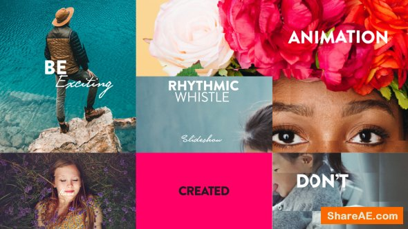 Videohive Rhythmic Whistle Slideshow