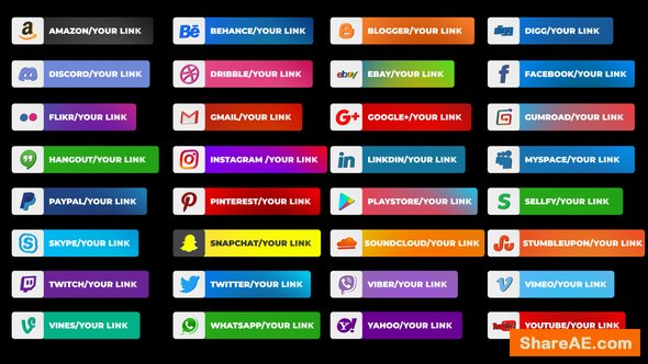 Videohive Social Media Lower Thirds 23115915