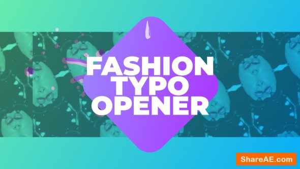 Videohive Fashion Typo Opener