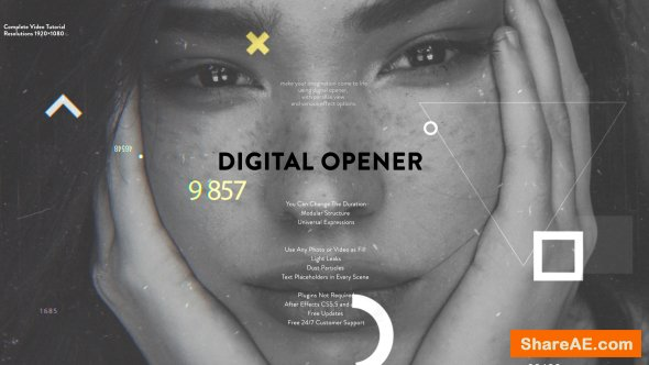 Videohive Digital Opener