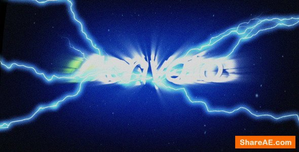 Videohive Glitch Lightning Reveal
