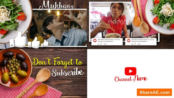 Videohive Mukbang Food Youtube Intro