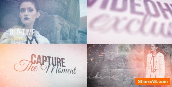 Videohive Old-time Fashion - A Dynamic Vintage Opener
