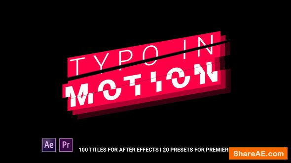 Videohive Typo In Motion