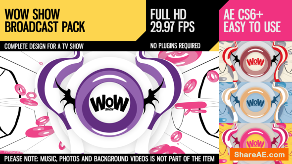 Videohive WoW Show (Broadcast Pack)