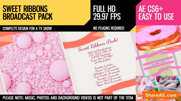 Videohive Sweet Ribbons (Pack)