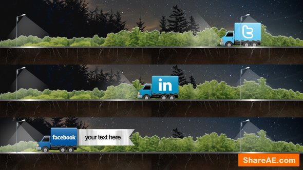 Videohive Social Truck Lower Third