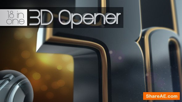 Videohive 3D Opener 18 in 1