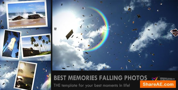 Videohive Sunny Falling Photos Slideshow
