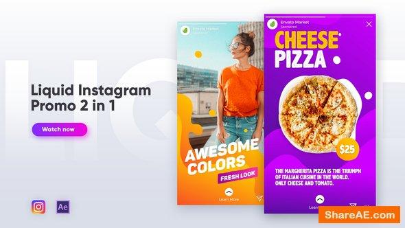 Videohive Liquid Instagram Promo 2 in 1