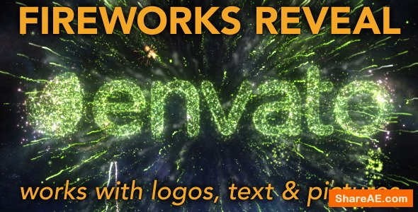 Videohive Fireworks Reveal - for logos, text and pictures