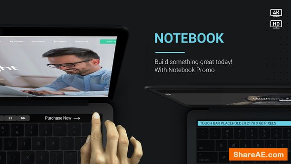 Videohive Notebook Web Promo V2