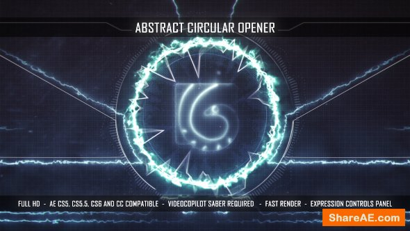 Videohive Abstract Circular Opener