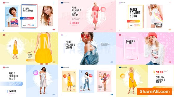 Videohive Fashion Store Pack