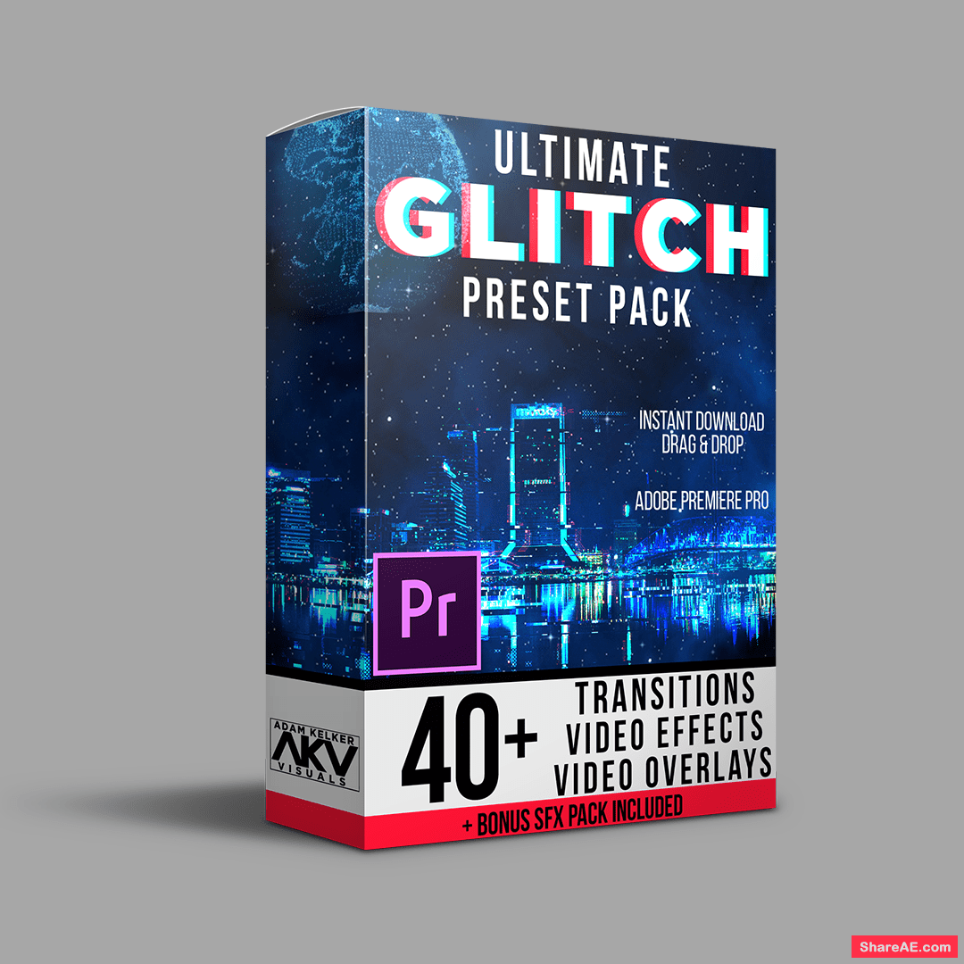 Ultimate Glitch Pack Premiere Pro - AKV Visual » free after effects
