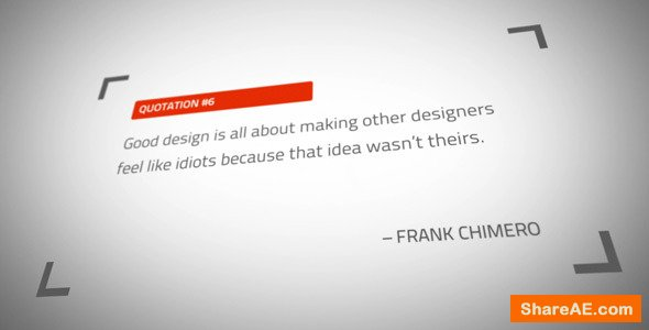 Videohive Great Thinkers Quotes and Titles