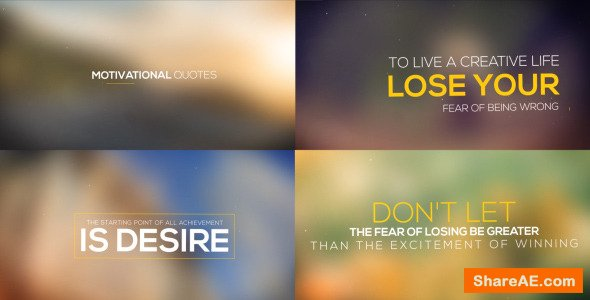 Videohive Motivational Quotes Collection